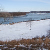 A sweeping view of the Missouri River that prompted building a fort on this site.