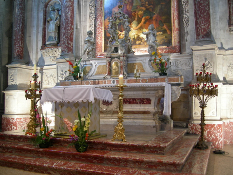 Alter in Agde Cathedral