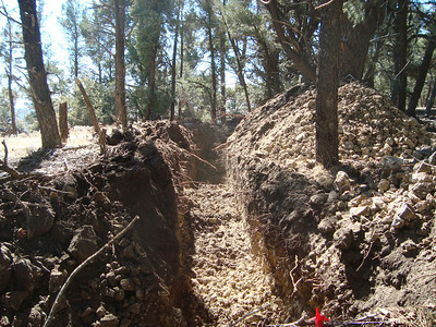 More rocks were in the Central Powers trenches than the Allied side.