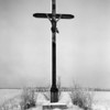 Photo courtesy of Fred Korb<br /> One of the many roadside crosses Fred Korb saw during World War II.