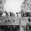 Photo courtesy of Fred Korb<br /> Nazi Schutzstaffel, commonly called SS, are led off a truck during the unconditional surrender of all German forces in  1945.