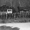 Photo courtesy of Fred Korb<br /> The 101st Airborne Division Band in Berchtesgaden, Germany in June 1945. The 101st spent the last days of the war at Adolph Hitler's Nazi vacation retreat hunting down Nazi leaders.