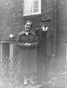 Mr & Mrs Philips at home in Culver St.
