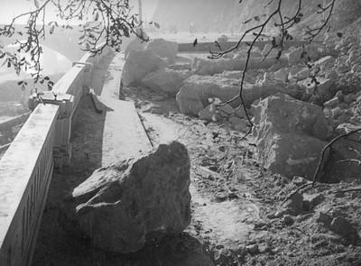 1937, Boulders from Landslide
