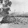 1958, Rockslide Closes Freeway