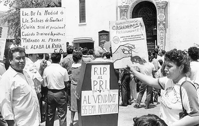1988, Mexican Expatriats Protest Election