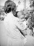 1937, Olvera St., Woman nd Child