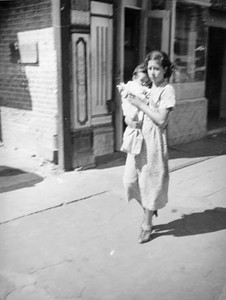 1937, Olvera St. Woman with Infant