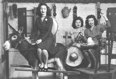 1944, Women Having Fun on Olvera St.