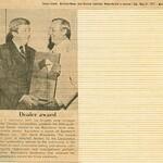 1977, Distinguished Dealer Award