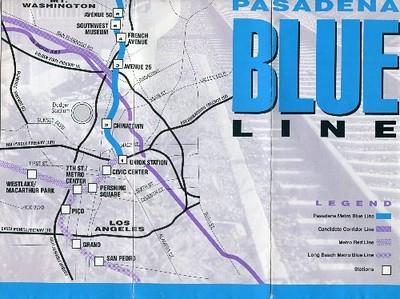 1995, Pasadena Blue Line Poster