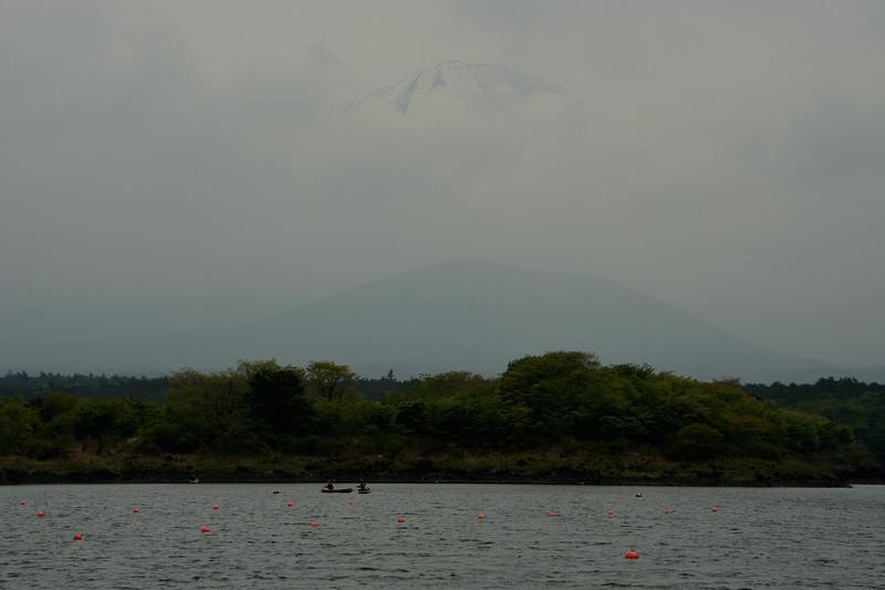 Faint Mt. Fuji from Lake Shoji