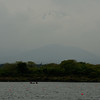 Faint Mt. Fuji from Lake Shoji