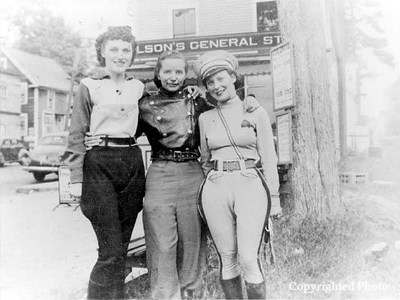 """Dot"" Robinson, co-owner of Detroit HD Dealership. She is know as, ""First Lady of Motorcycling"" with Linda Dugeau-Founder of the Motor Maids, Dot and Vivian Bales, female motorcycle legends."