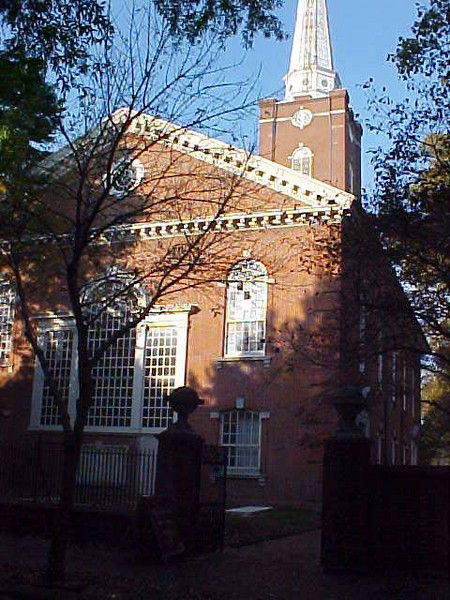 St Peter's Episcopal church in Philadelphia, PA. site of George Mifflin Dallas' grave