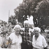 Pop with sisters Julia and Estelle Q. Falligant in June 1964;