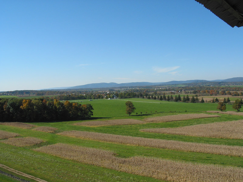 From the Confederate Avenue observation tower, looking toward the Eisenhower farm.