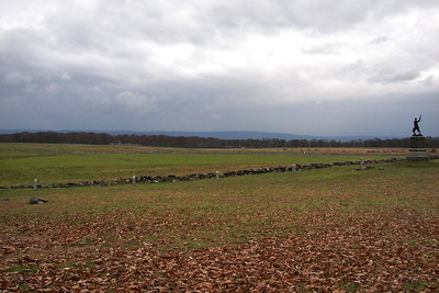 View near the highwater mark of the Confederate charge on July 3rd, 1863