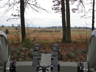 From Seminary Ridge looking toward the Pennsylvania Memorial