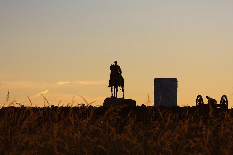 View towards Cemetery Ridge at sunrise