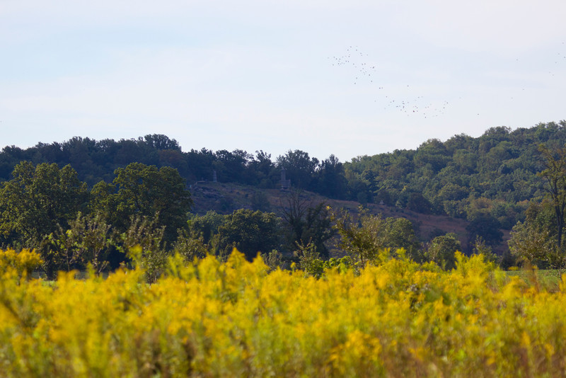 Zoomed in view of LIttle Round Top from Picket's charge area
