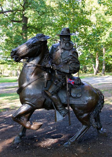 General Longstreet Memorial in the trees along Seminary Ridge