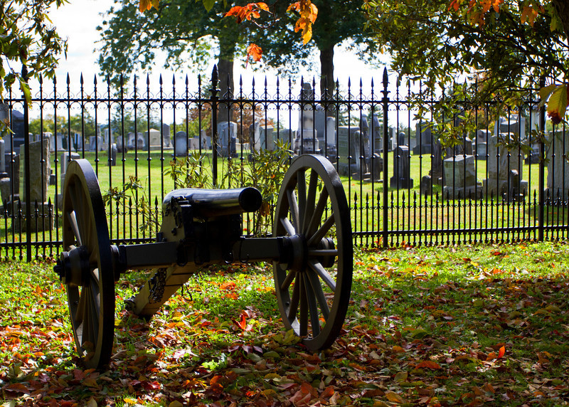 Canon at Soldiers National Cemetery