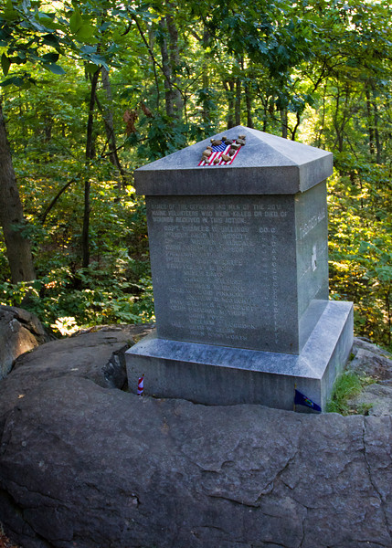 20th Maine Memorial at their far left position