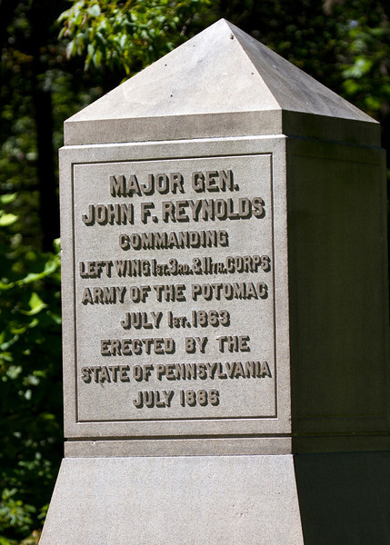 Location where Reynolds fell during day 1 of the battle