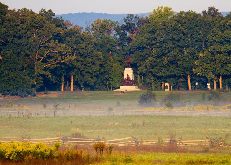 Virginia memorial on Seminary Ridge