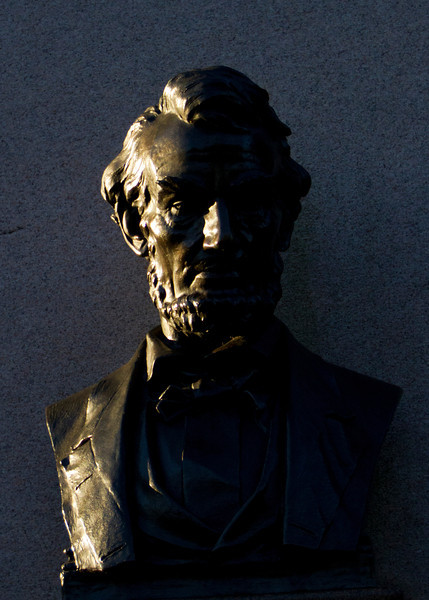 Lincoln monument at the Soldiers National Cemetery