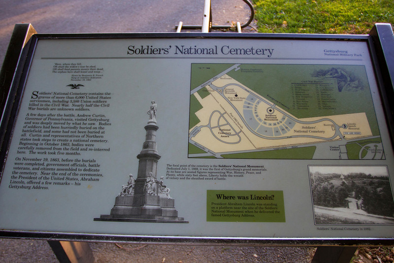 Soldiers National Cemetery on Cemetery Hill