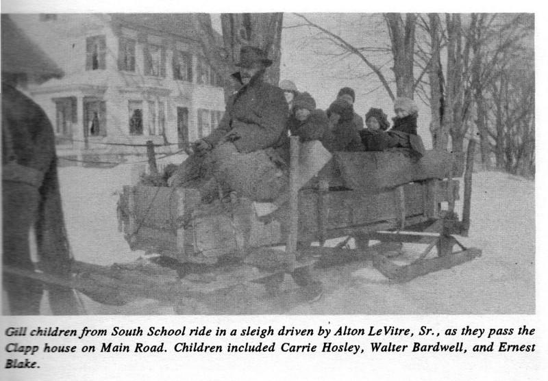 Gill Children Riding Sleigh