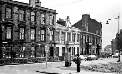 Rutland Crescent.   The white-painted building was a Masonic Hall, Lodge Plantation, from 1894 to 1983.      June 1975
