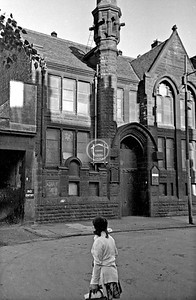 Sussex St., or maybe not.  Kinning Park Church.    June 1975