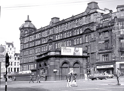Glasgow Cross Station, built 1896, rebuilt 1923, closed 1964, demolished 1977.    April 1973