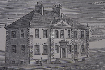 A 19th century sketch of the Dreghorn Mansion.