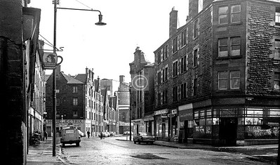 Bridgegate, south side at St Margaret's Place.    March 1973