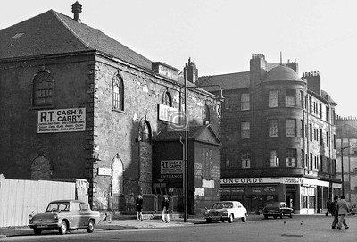 Hospital St, east side between Ballater St and Old Rutherglen Rd.    Hutchesontown U F Church (1799), separated from the Cunninghame by 100 yards, 99 years and a world of architectural taste.    September 1973