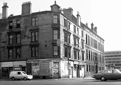 Ballater St and Florence St.   The building adjoining the tenement in Florence St had been an Industrial School.     September 1973