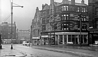Castle St. at St James Rd. The building occupied by the City Cafe had been part of the UF church which formerly stood at the corner of Cathedral St.   March 1973