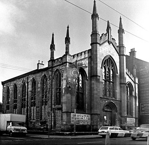 Corner of Bain St and London Rd.    Gillespie U F Church.    December 1975