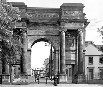 McLennan Arch and Charlotte St.   The church halfway up on the right was built in 1864 as Trinity United Free.    July 1973