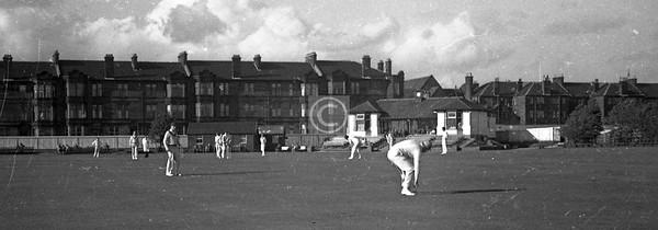 Western Union cricket at Titwood, mid-60s.