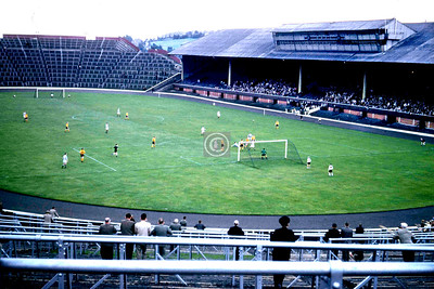 Hampden Park, c1967, Queen's Park v who? East Fife? Dumbarton?   After Thirds folded I might have started going to Hampden, only another 5 minutes walk, but this photo is enough to explain why I didn't – a large ground less than 1% full has as much atmosphere as the moon. Clyde I never had much affection for, Thistle were on the wrong side of the city, and Rangers or Celtic? - well, my attitude, then as now, was that I didn't mind who beat them. So, as Third Lanark expired, so did my regular attendance at Scottish League football.