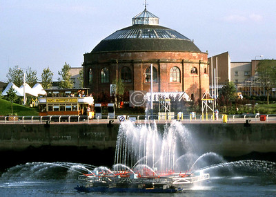 Fireboat, tram, south rotunda, Glasgow Garden Festival.    August 1988
