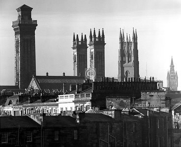 Some well known towers, from the Charing Cross area.    January 1977