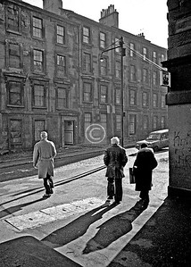 Rose St at Buccleuch St.  February 1976