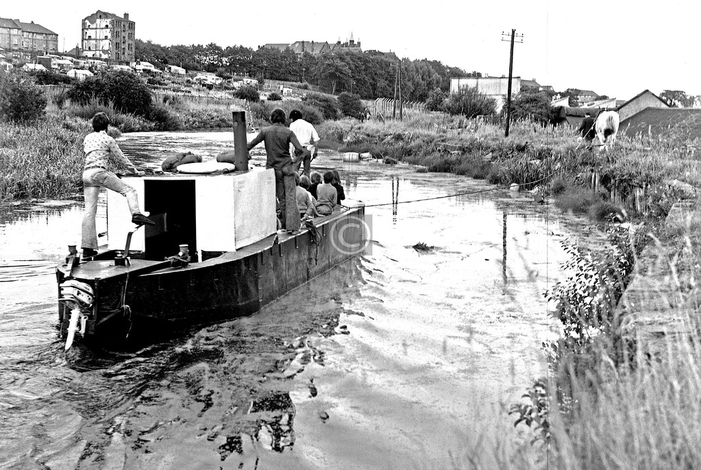 Forth & Clyde Canal at Maryhill.  October 1975