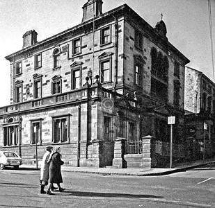 Dalhousie St / Hill St.  St Aloysius College.   February 1976
